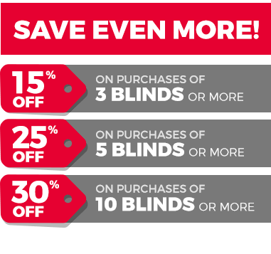 Save more on blinds