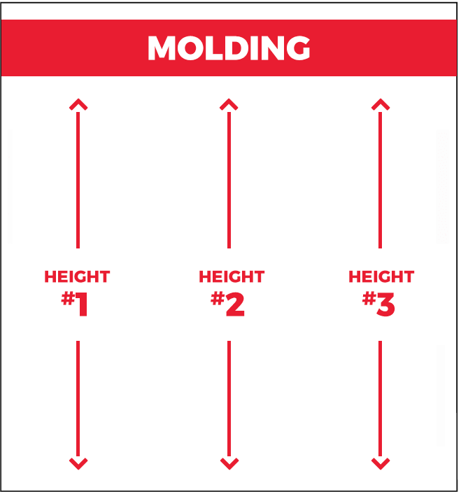 Measure the height molding